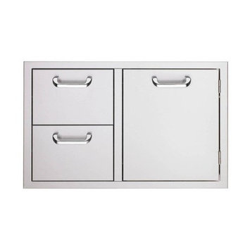 Sedona by Lynx Grill Tools 30 in. Storage Door and Fully Enclosed Double Drawers LSA530