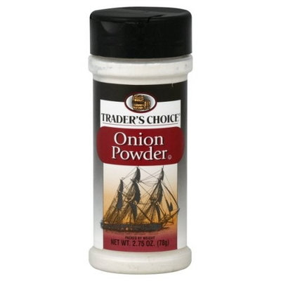 Traders Choice Onion Powder, 2.75-Ounce Plastic Jars (Pack of 12)