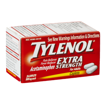 Tylenol Extra Strength Caplets - 24 CT