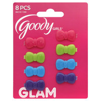 Goody Products Inc. Girls Petite Bow Living Hinge Barrettes, 8 pcs