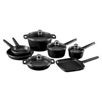 Fundix 11 Pc Induction Cookware Set Black