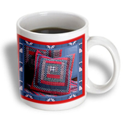 Recaro North 3dRose - Susan Brown Designs Pillow Themes - Blue Ridge Quilt Pillow - 15 oz mug