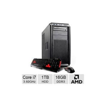 iBUYPOWER TGP746 Workstation PC - Intel Core i7-4790 3.60GHz, 16GB DDR3 Memory, 1TB HDD, DVDRW, 2GB AMD FirePro W600, Wi