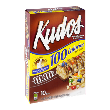 Kudos Milk Chocolate Granola Bars with M&M's