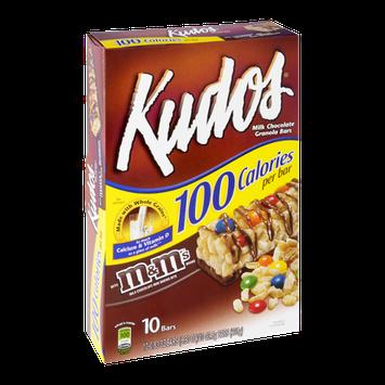 Kudos Milk Chocolate Granola Bars with M&M's