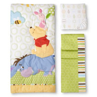 Disney Playful Pooh 3pc Crib Bedding Set