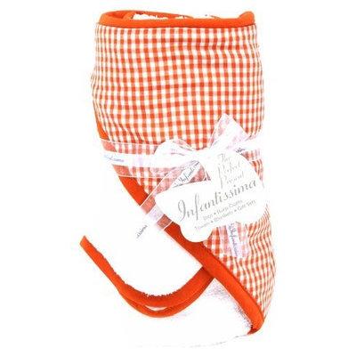 Infantissima Toddler Hooded Towel, Aqua Brown Dots