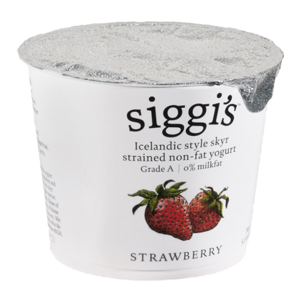 Siggi's Yogurt Strained Non-Fat Strawberry