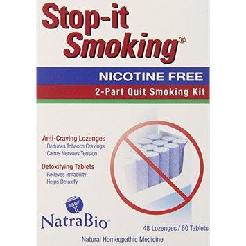 Natra-bio Natrabio Stop-it Smoking 2 Part Quit Smoking Kit, 108-Count