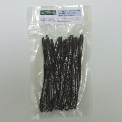 "Vanilla Products USA 25 Madagascar Bourbon Planifolia Grade A Gourmet Vanilla Beans 6~7"""