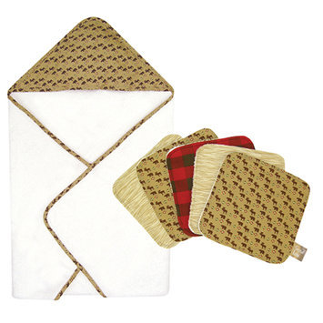 Test Trend Lab Bouquet Set - Northwoods - Hooded Towel & Wash Cloth