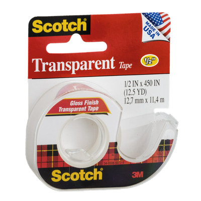 Scotch Transparent Tape 1/2