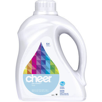 Cheer 2x Ultra Liquid HE Free & Gentle 64 Loads 100 Fl Oz