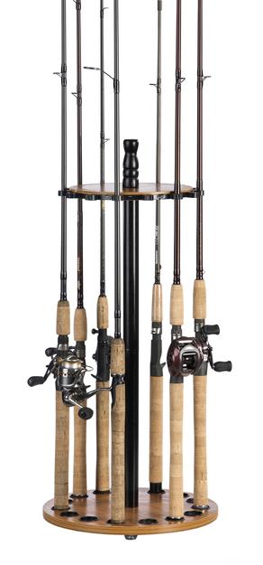 Organized Fishing - Rod Round Floor Rod Rack