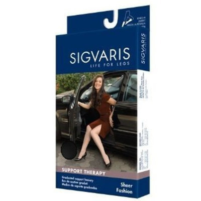 Sigvaris Women's Sheer Fashion 15-20 mmHg Closed Toe Knee High Sock Size: C (10-12), Color: Black 99