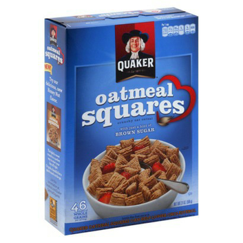 Quaker Oatmeal Squares with a Hint of Brown Sugar Cereal
