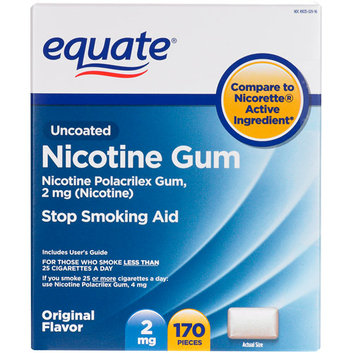 Equate Stop Smoking Aid Original Flavor Gum 2mg