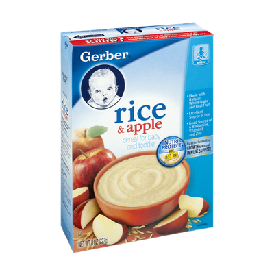 Gerber Rice & Apple Cereal for Baby and Toddler