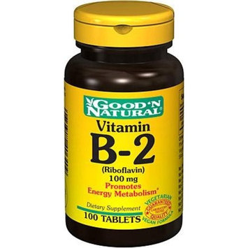 Good 'N Natural - Vitamin B-2 Riboflavin 100 mg. - 100 Tablets