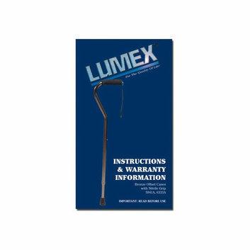 Lumex Cane Offset Bronze Tall Nitrile Grip