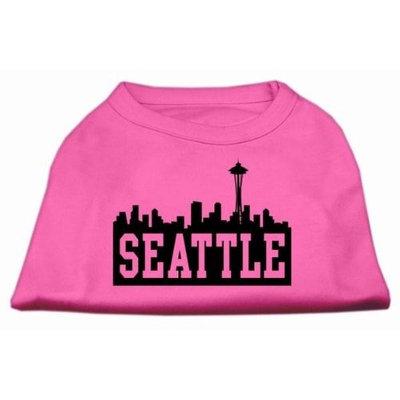 Mirage Pet Products 5173 XXXLBPK Seattle Skyline Screen Print Shirt Bright Pink XXXL 20