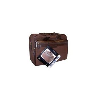 Heritage Travelware 44464B Samsonite Brown Canvas Portfolio Laptop Case