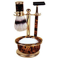 Kingsley Harry D Koenig & Co 5 Piece Shave Set for Men, Tortoise