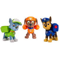Nickelodeon Paw Patrol Action Pack Pups 3-Pack Figure Set, Chase/Rocky/Zuma