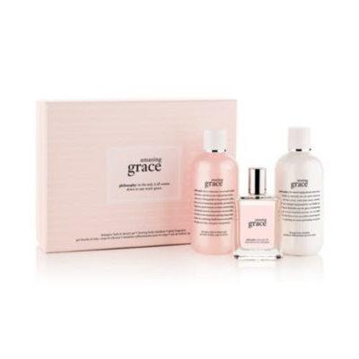 bathroom sets philosophy amazing grace bath & body value set