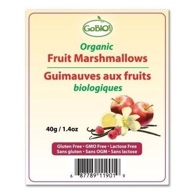 GoBIO Organic Marshmallows - 40g/1.4oz bag
