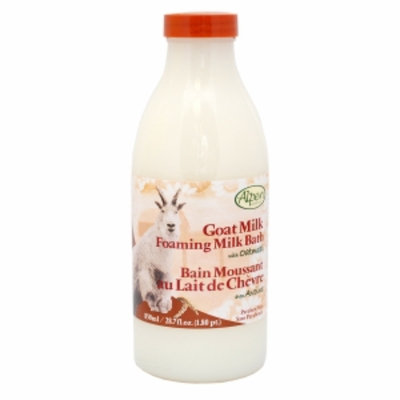 Alpen Secrets Goat Milk Foaming Milk Bath, Oatmeal, 28 fl oz