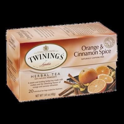 Twinings of London Herbal Tea Bags Orange & Cinnamon Spice - 20 CT
