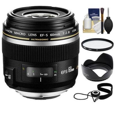 Canon EF-S 60mm f/2.8 Macro USM Lens + UV Filter + Hood + Accessory Kit for EOS 6D, 70D, 5D Mark II III, Rebel T3, T3i, T4i, T5, T5i, SL1 DSLR Cameras