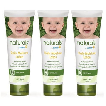 Safety 1st Naturals Daily Moisture Lotion, 8-Fluid Ounce Tubes (Pack of 3)