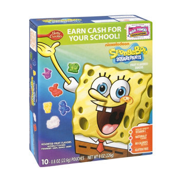 Betty Crocker Nickelodeon SpongeBob SquarePants Fruit Flavored Snacks - 10 CT