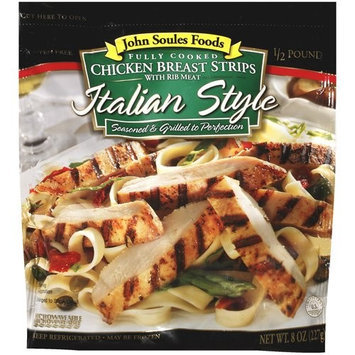 John Soules Foods: Italian Style Chicken Breast Strips, 8 Oz