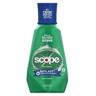 Scope Long Lasting Mint Mouthwash - 33.8 oz