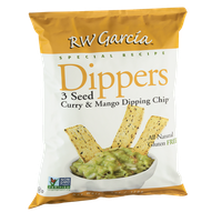 RW Garcia Dippers Special Recipe 3 Seed Curry & Mango Dipping Chips