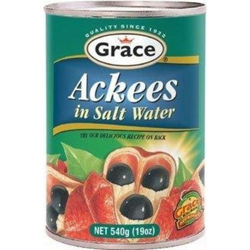 Grace Ackees in Salt Water 19oz, 540ml ONE Can.