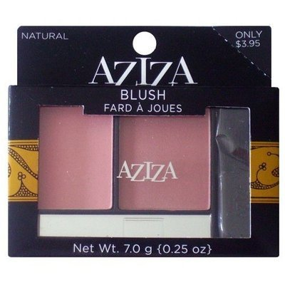 Aziza Blush, Natural, 0.25oz/7.0g
