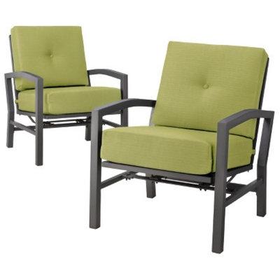 Outdoor Patio Furniture Set: Threshold 2 Piece Lime Green Aluminum