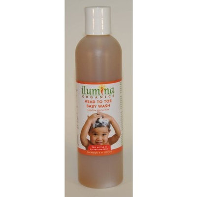 Ilumina Brands Ilumina Organics Head To Toe Baby Wash, Sensitive Skin Formula, 8.0-Ounce Bottle (Pack of 2)