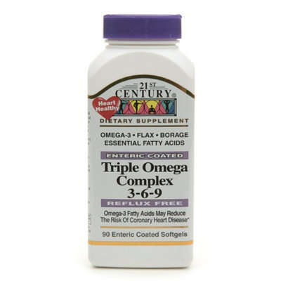 21st Century Enteric Coated Triple Omega Complex 3-6-9
