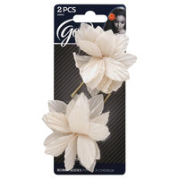 Goody Products Inc. Bobby Slide Frayed Spiked Flower, 2 CT