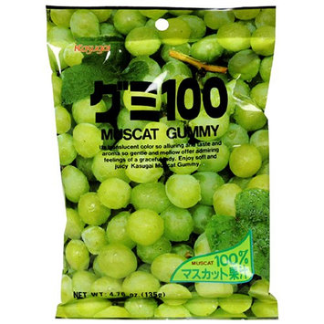 Kasugai Gummy Candy Muscat (Green Grape) Flavor