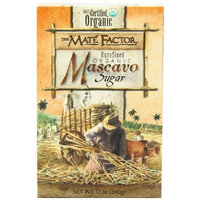 The Mate Factor Mascavo Sugar, Unrefined Organic, 12 Ounces (Pack of 6)