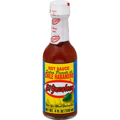 El Yucateco Red Habanero Hot Sauce, 4 oz (Pack of 12)