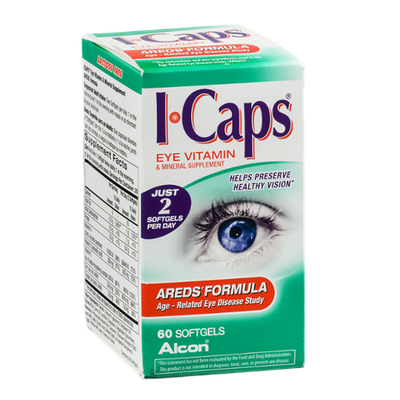 I-Caps Eye Vitamin & Mineral Supplement Softgels Areds' Formula - 60 CT