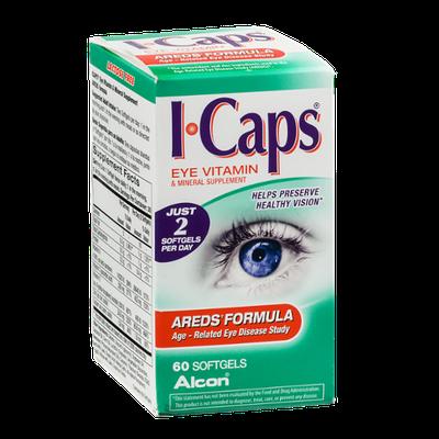 I-Caps Eye Vitamin & Mineral Supplement Softgels Areds' Formula - 60 CT