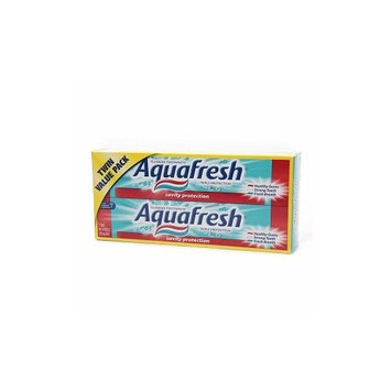 Aquafresh Twin Pack Cavity Protection Toothpaste, Pack of 2, 32.8 ounces